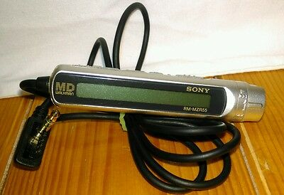 Sony RM-MZR55 Silver Personal Minidisc Player REMOTE ONLY!