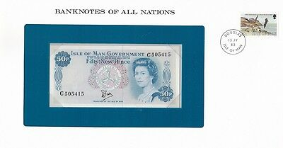 Isle of Man - 50 Pence 1969 UNC ( 1979 ) Banknotes of all Nations Lemberg-Zp