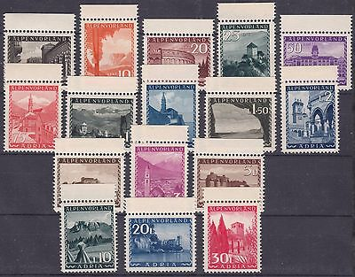 Germany 1945, Alpenvorland Adria Serie, Laibach, unissued complete set , MNH **