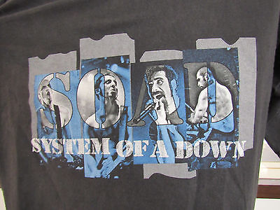 System Of A Down Concert T-Shirt World Tour 2002 SOAD Metal Rock XL