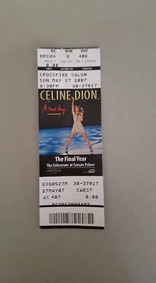Celine Dion A New Day: The Final Year ticket stub Caesars Palace Las Vegas