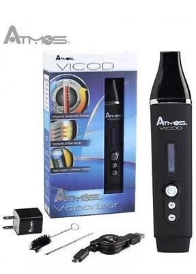 ATMOS VICOD  BEST PORTABLE DRY HERB  NEW Herbal Vaporiser Available Now Black