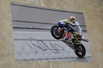 "Valentino Rossi Signed 12"" x 8"" Colour Photo MotoGP Yamaha VR46 (2)"