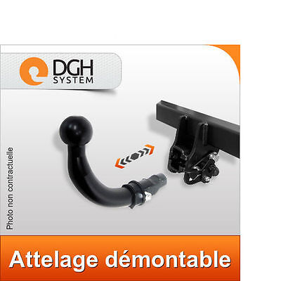Attelage demontable horizontal Peugeot 407 berline 2004/2008