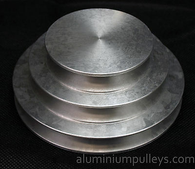 """Aluminium Pulley 3 Step V Pulley Stepped A Groove 3""""/4""""/5"""" VEE PULLEY"""