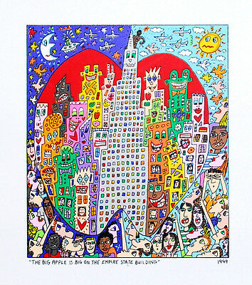 James Rizzi - The Big Apple Is Big On The Empire State Building - LEINWAND