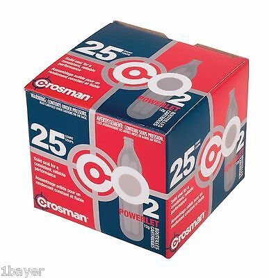 Crosman 12g Refill Paintball Camping Hiking CO2 Air Tank Cartridge (25pc)