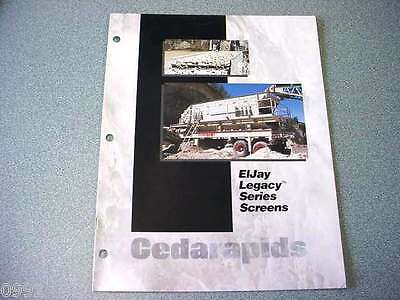 Cedarapids Eljay Legacy Series Screens Brochure