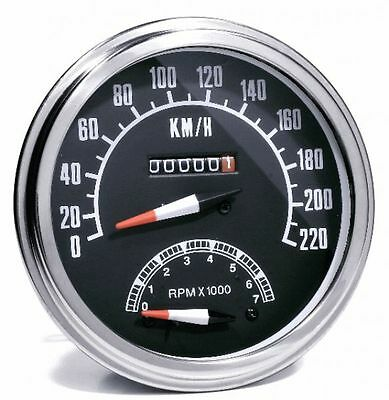 KM Tacho + Tachometer Rev counter 2:1 For Harley Dyna Motorcycle
