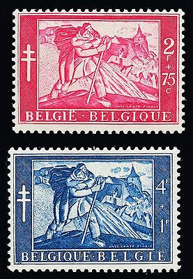 Bélgica - Belgium 1954 - The Man and the Paralytic (Antoine Carte) - MH*