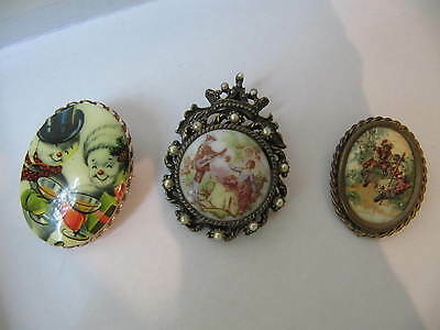 ANTIQUE 3 Victorian  brooches  all is wearable and gorgeous Personal collection