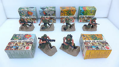 Lotto Soldatini Mattel Eroi In Azione 1974 in box scatole originali Soldiers