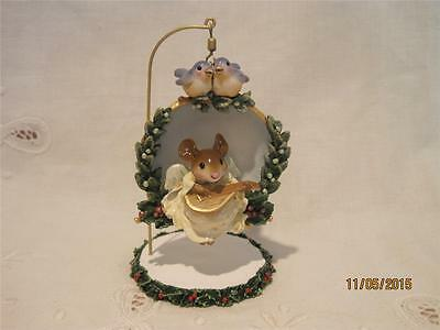 Wee Forest Folk CO-01 Christmas Angel Ornament & Stand Retired 2010 - WFF Box