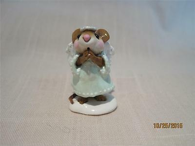 Wee Forest Folk Ice Angel - Light Green Gown Snow Base - Retired in WFF Box