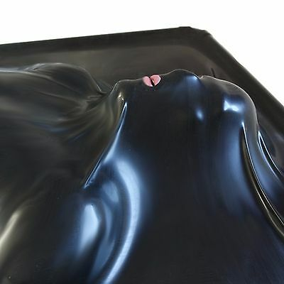 1m X 2.5m Large -  BLACK Rubber Latex Vacuum Vac bed from Partybois Rubber