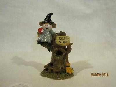 Wee Forest Folk Halloween Settin' a Spell Gray Gown - Retired in WFF Box