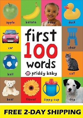 Toddler Learning Book First 100 Words Board Child Toy Early Education Bright Kid