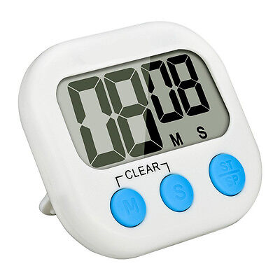 New Large LCD Display Digital Kitchen Racing Alarm Count UP Down Cooking Timer