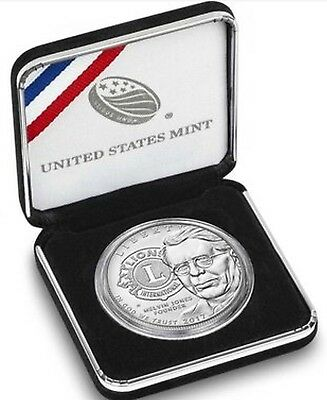 2017-P Lions Club International Centennial Uncirculated Silver Dollar