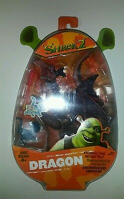 Shrek 2 Dragon with launching fireball and flappin wings action figure MOSC