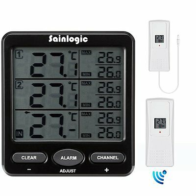Sainlogic Wireless Weather Station, Accurate Readings LCD Digital Temperature 2