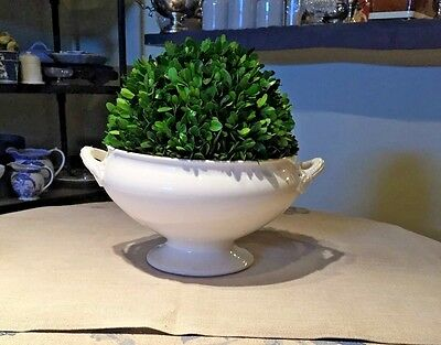 Antique French Creamware White Ironstone Tureen Bowl French Pottery