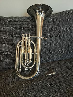 Silver B&S Tenor Horn And Gig Bag Case Good Condition