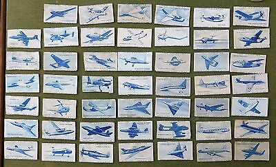 TURF BRITISH AIRCRAFT 1953 A SET OF 48 from 50