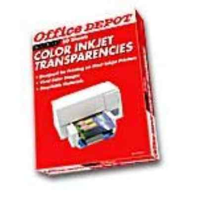 Office DepotR Inkjet Transparency Film, Clear, Pack Of 50
