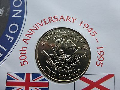 Jersey £2 pound coin UNC 1995 50th Anniversary of the Liberation of Jersey   A
