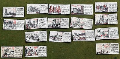 TYPHOO TEA CARDS 1950s FAMOUS BUILDINGS   SET OF 17 FROM 20