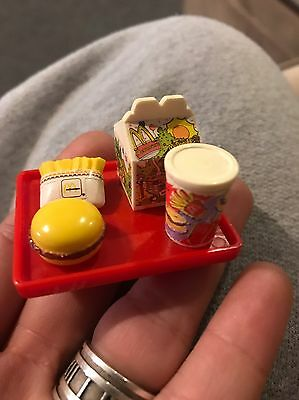 Barbie Mcdonald's HAPPY MEAL Burger Fries Tray