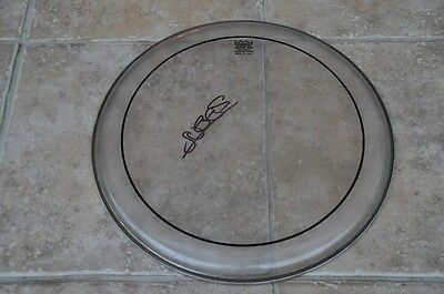 "Suggs Signed 15"" REMO Used Drum Skin Madness"