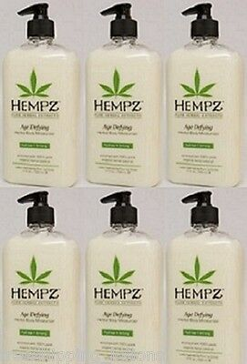 Lot Of 6 Supre Hempz Age Defy Moisturizer Tan Extender Lotion + Free 2.25 Oz