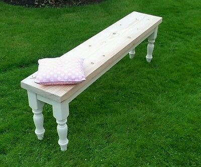 3ft 4ft 5ft  farmhouse rustic shabby chic pine dining bench