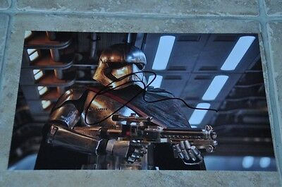 """Gwendoline Christie Signed 12"""" x 8"""" Colour Photo Star Wars The Force Awakens"""