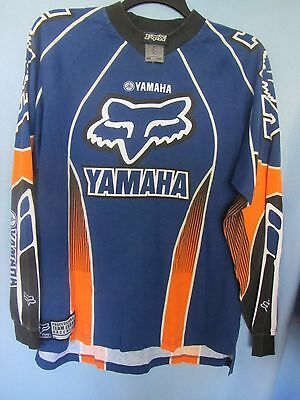 Fox Racing Pro Team Issue Yamaha poly cotton LS jersey shirt size Large