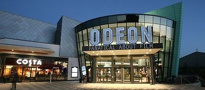 2 x Odeon Cinema Adult/Child - USE ANYTIME Valid 6 months! -