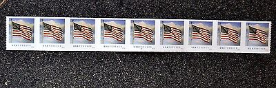 2016USA #5052  Forever  U.S. Flag US PNC Coil Strip of 9   #B11111  Mint  (BCA)