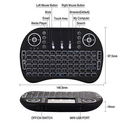 FIRESTICK BLUETOOTH KEYBOARD Remote - Amazon, Android, Google, PC, Apple,  IOS