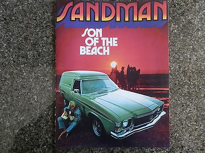Holden 1976 Hj Sandman Sales  Brochure ''plus Bonus''  100% Guarantee.
