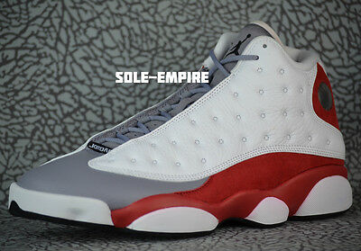 brand new 972b8 c9d4c Nike Air Jordan 13 Retro Grey Toe Mens 414571-126 White Black True Red  Cement