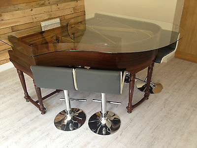 Glass Top Baby Grand Piano