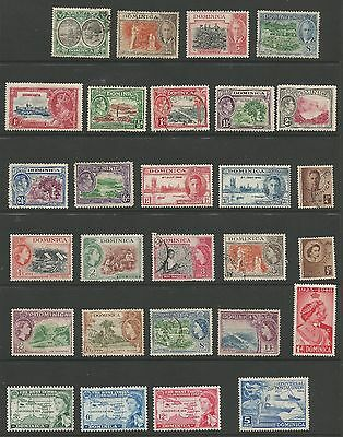 DOMINICA STAMP COLLECTION - 44 MINT HINGED & USED STAMPS  f175