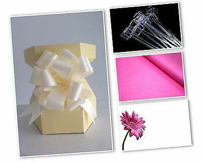Cupcake Bouquet Box - Starter Kit includes Bow, Tissue Paper, Cardette & Pick