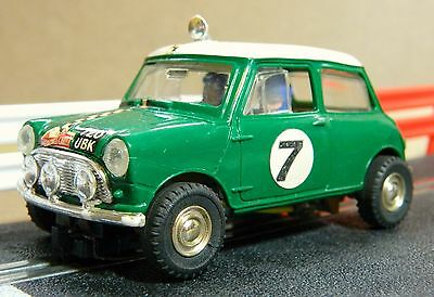 Scalextric Vintage Mini Cooper Rally In Lovely Condition (C7)