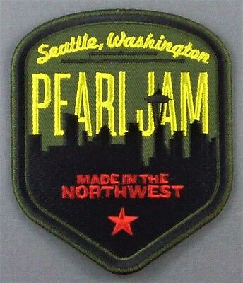 Pearl Jam Seattle Skyline Patch embroidered Made in the Northwest Washington
