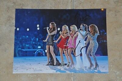 "Emma Bunton & Melanie C Signed 12"" x 8"" Colour Photo Spice Girls London 2012"