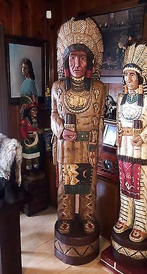 John Gallagher Carved Wooden Cigar Store Indian 7 ft.Tall Buffalo