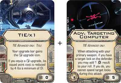 New Star Wars X-Wing Imperial Raider Tie/x1 Title & Advanced Targeting Computer